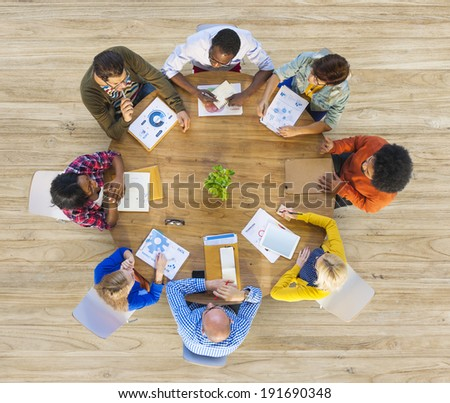 Group of Multiethnic Business People in Meeting