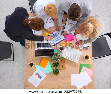 Group of Multiethnic Busy People Working in an Office #288973298
