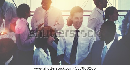 Group of Multiethnic Diverse Busy Business People Concept - Shutterstock ID 337088285