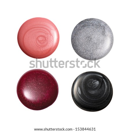 group of nail polish isolated on white  #153844631