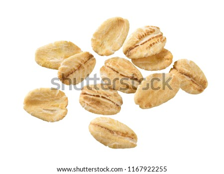 group of oat flakes #1167922255