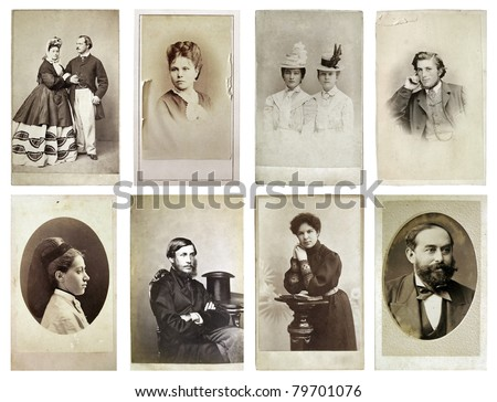 group of old photographs of the ...