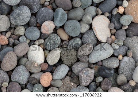 Group of pebble clouse up