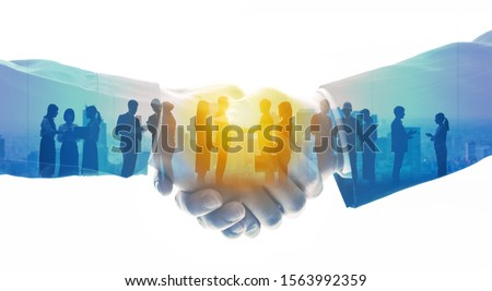 Group of people and communication network concept. Human resources. Teamwork of business. Partnership. Stock photo ©