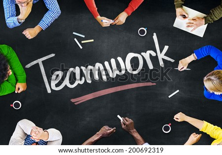 Group of People and Teamwork Concepts