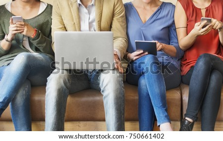 Group of people are using digital devices #750661402