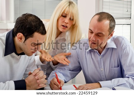 group of people at business training