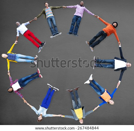 Group of People Circle Holding Hands Concept