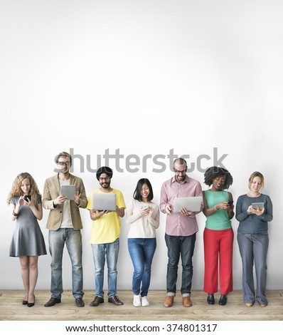 Group of People Connection Digital Device Concept - Shutterstock ID 374801317