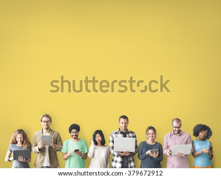 Group of People Connection Digital Device Concept - Shutterstock ID 379672912