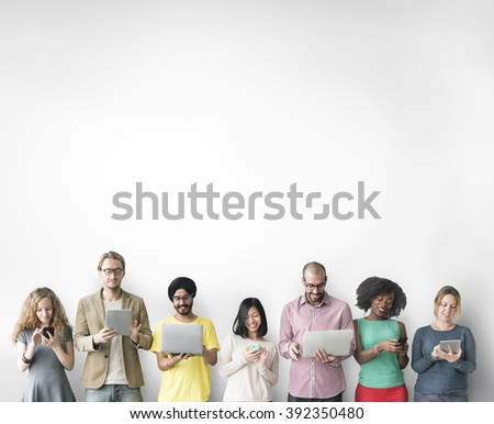 Group of People Connection Digital Device Concept - Shutterstock ID 392350480