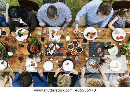 Group Of People Dining Concept #486585970