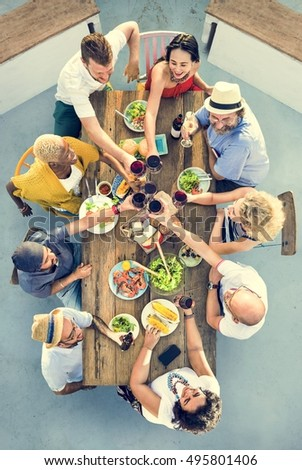 Group Of People Dining Concept #495801406