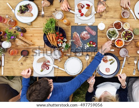 Group Of People Dining Concept #497759056