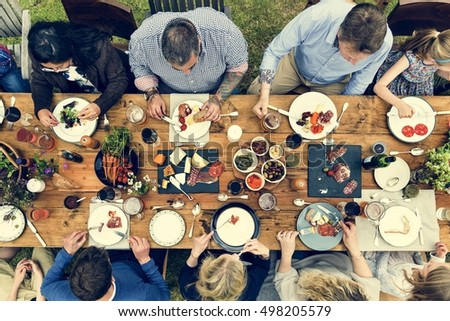 Group Of People Dining Concept #498205579