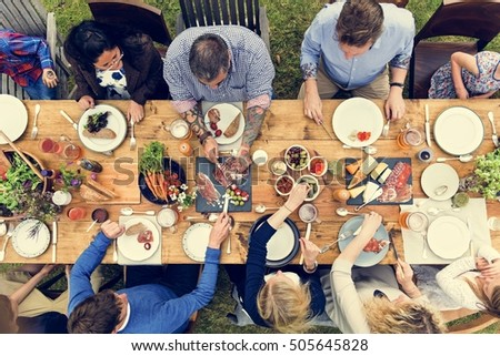 Group Of People Dining Concept #505645828