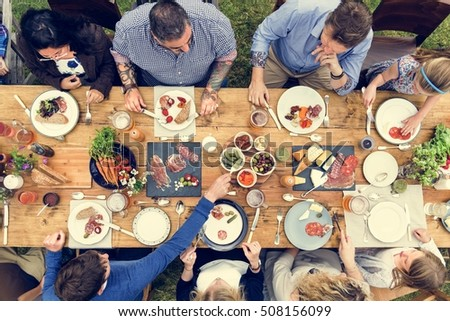 Group Of People Dining Concept #508156099