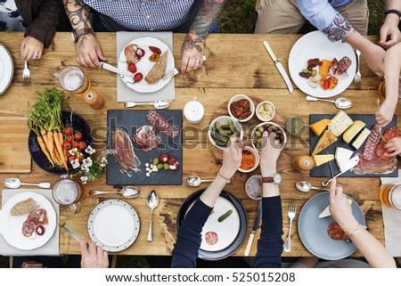 Group Of People Dining Concept #525015208