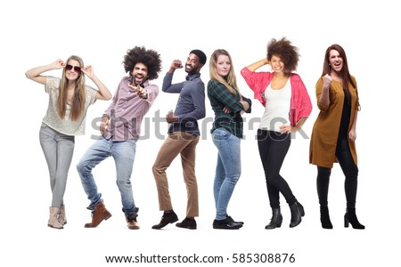 Group of people full body #585308876