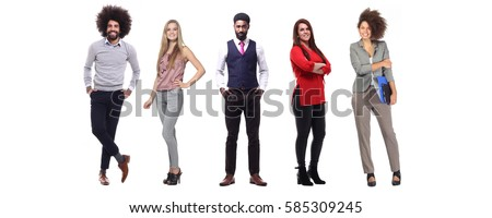 Group of people full body