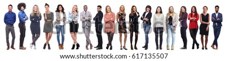 Group of people full body #617135507
