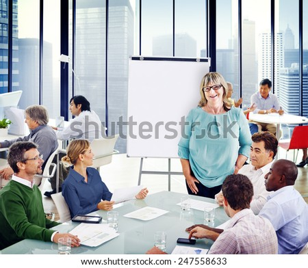 Group of People in a Meeting #247558633