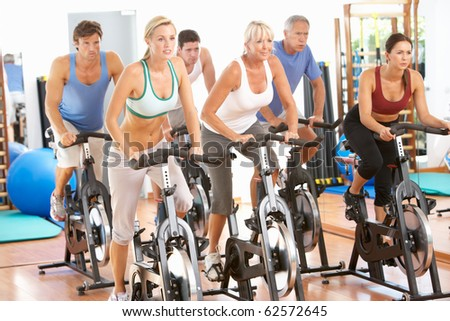Group Of People In Class In Gym