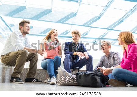 Group of people in real authentic life
