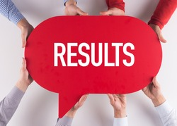 Group of People Message Talking Communication RESULTS Concept