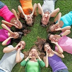 group of people of mixed race or ethnic teenagers