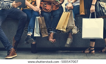 Group Of People Shopping Concept - Shutterstock ID 500547007