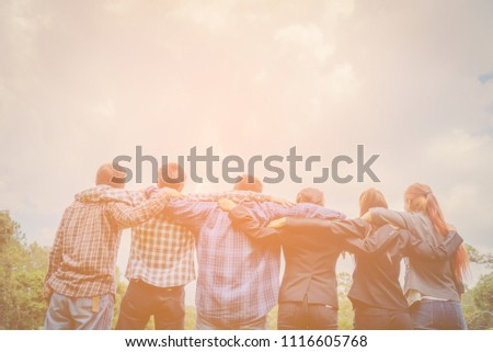 Group of People showing of Diverse Hands Teamwork Concept