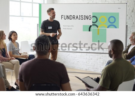 Group of people social fundraising for charity foundation #643636342