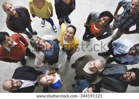 Group of People Team Diversity Smiling Concept - Shutterstock ID 344191121