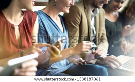 Group of people using digital devices #1338187061