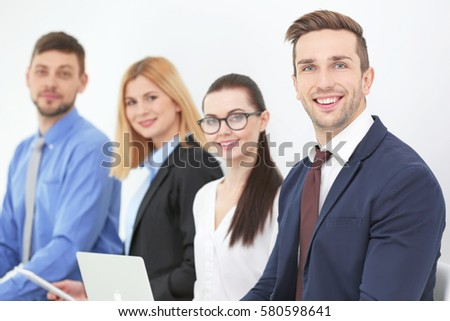 Group of people waiting for job interview, closeup #580598641