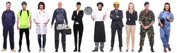 Group of people with different professions