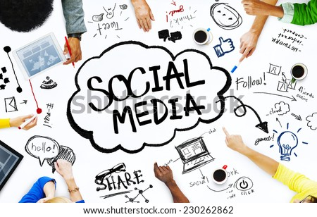 Group of People with Social Media Concept #230262862