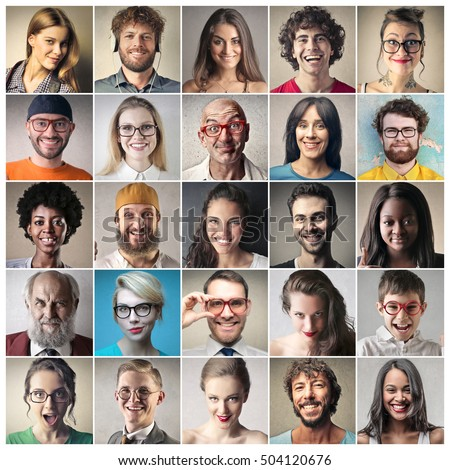 Shutterstock group of portraits