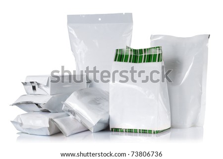 group of product pack. isolated over white background