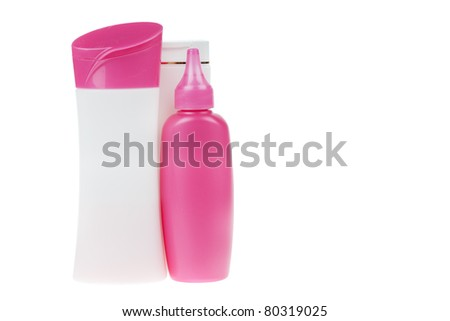 group of product packaging. isolated over white background
