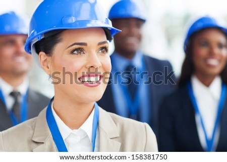 group of professional construction managers - stock photo