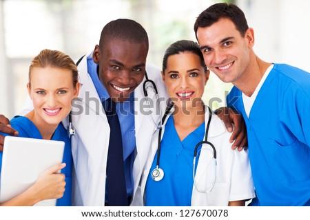 group of professional medical team closeup