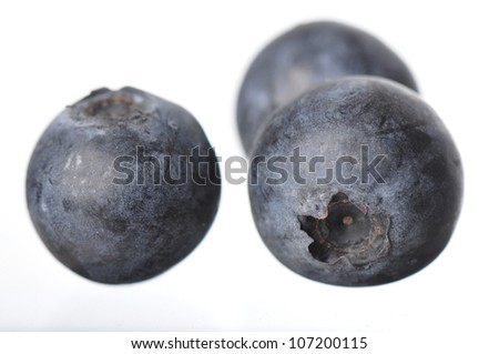 Group of ripe fresh North Carolina blueberries