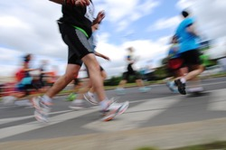 Group of Runners, emotional blurred image