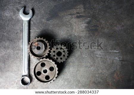 Shutterstock Group of rusty transmission gears on table close up