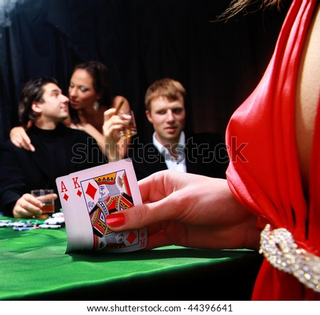 group of sinister poker players
