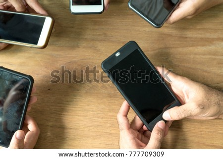Group of smartphone communication with wifi cellular network #777709309