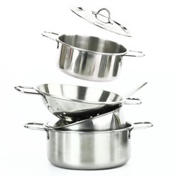 Group of stainless steel kitchen tools
