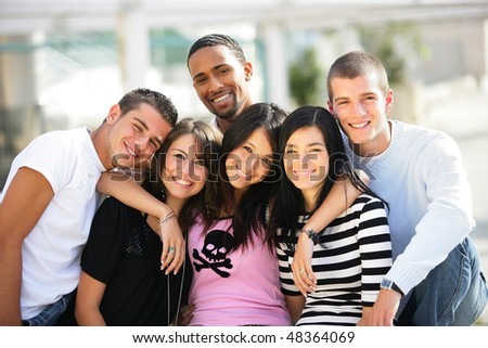 Group of students at university